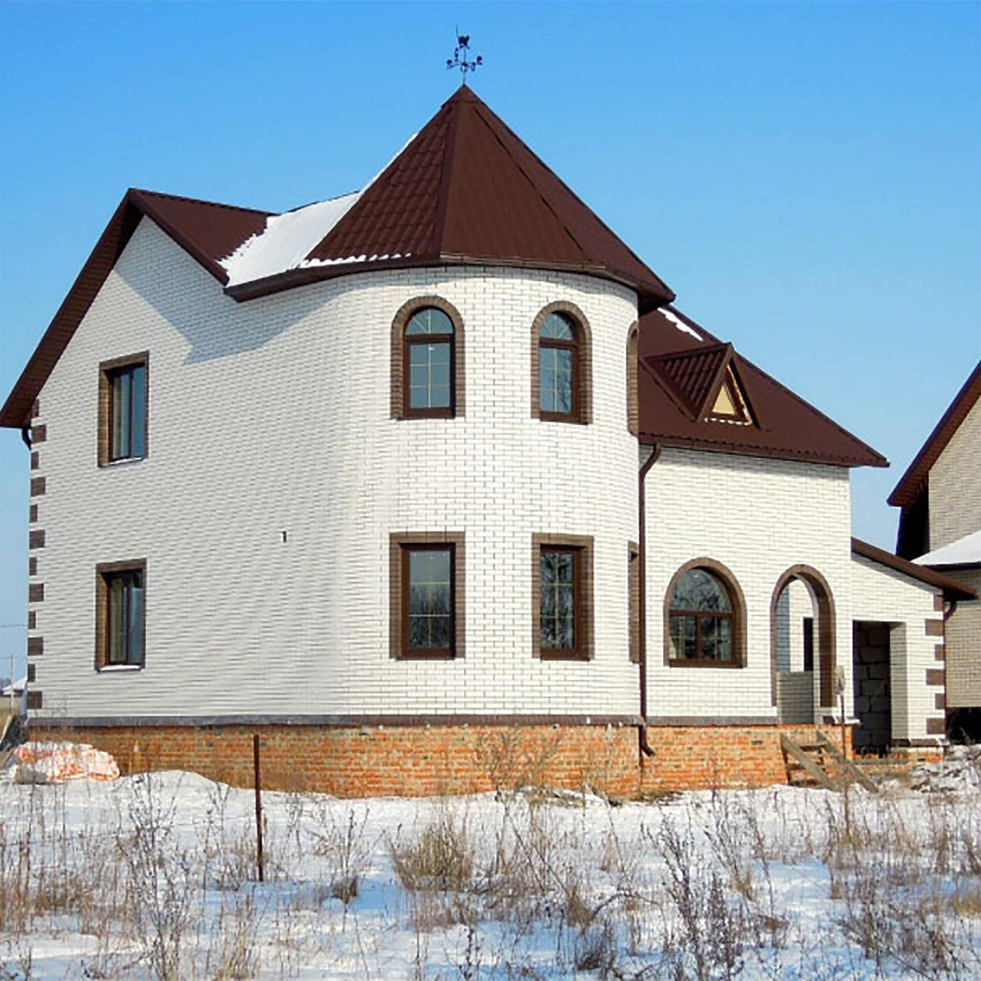 смотреть фото домов из белого кирпича муку