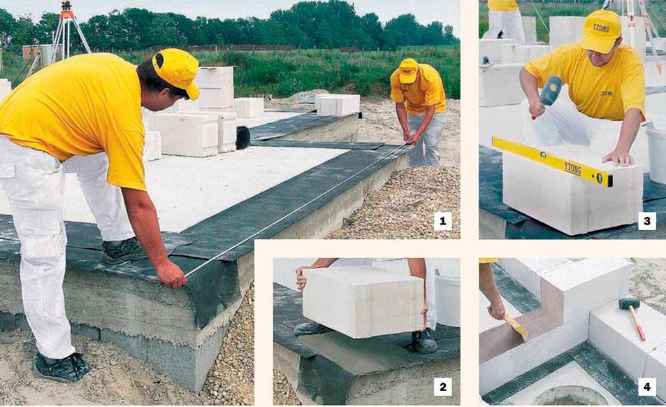 как правильно класть стену из блоков